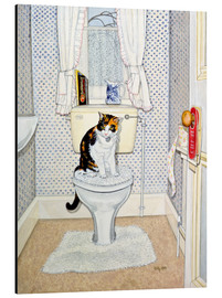 Alu-Dibond  Cat on the Loo - Ditz