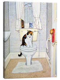 Toile  Cat on the Loo - Ditz