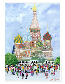 Poster  St. Basil's Cathedral, Red Square, 1995 - Judy Joel