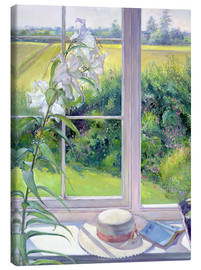Tableau sur toile  Reading corner in the window, detail - Timothy Easton