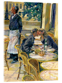 Verre acrylique  Lovers in August, Paris - Rosemary Lowndes