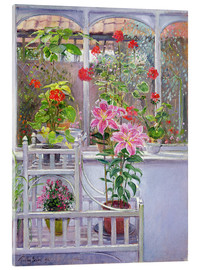 Tableau en verre acrylique  In the winter garden - Timothy Easton