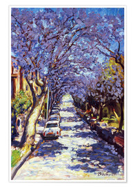 Poster  North Sydney Jacaranda - Ted Blackall