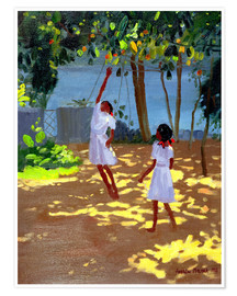 Poster  Reaching for Oranges, Bentota - Andrew Macara