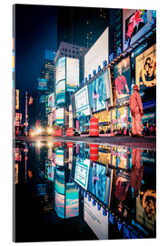 Tableau en verre acrylique  Broadway, Times Square by night - Sascha Kilmer
