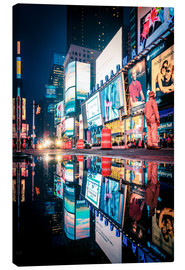 Tableau sur toile  Broadway, Times Square by night - Sascha Kilmer