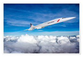 Poster  Concorde Supersonic - Paul Heasman
