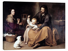 Tableau sur toile  The Holy Family with the Little Bird - Bartolome Esteban Murillo