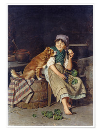 Poster Girl with Dog