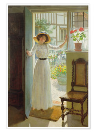 Poster  À la porte d'entrée - William Henry Margetson