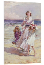 Tableau en PVC  A Breezy Day at the Seaside - William Kay Blacklock