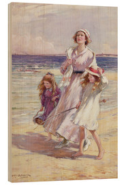 Tableau en bois  A Breezy Day at the Seaside - William Kay Blacklock