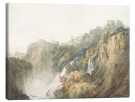 Tableau sur toile  Tivoli with the Temple of the Sibyl and the Cascades - Joseph Mallord William Turner
