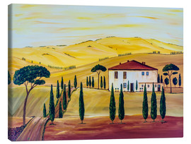 Tableau sur toile  Southern Tuscany - Christine Huwer