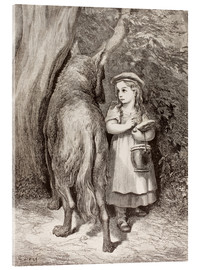 Tableau en verre acrylique  Scene From Little Red Riding Hood By Charles Perrault - Gustave Doré
