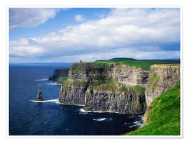 Poster  Falaises de Moher - The Irish Image Collection