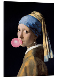 Verre acrylique  The Girl with a Pearl Earring (gum) - Jan Vermeer