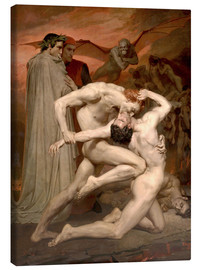 Tableau sur toile  Dante and Virgile - William Adolphe Bouguereau