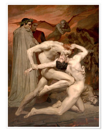 Poster  Dante et Virgile - William Adolphe Bouguereau