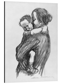 Alu-Dibond  Mother and Child - Käthe Kollwitz
