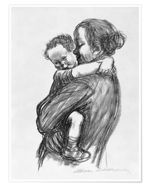 Poster  Mother and Child - Käthe Kollwitz