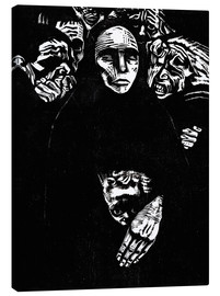 Toile  The people (the war) - Käthe Kollwitz