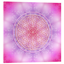 Verre acrylique  Flower of Life - Unconditional Love - Dolphins DreamDesign
