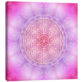 Toile  Flower of Life - Unconditional Love - Dolphins DreamDesign