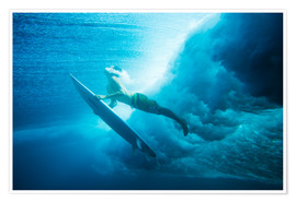 Poster  Surf surfacing - MakenaStockMedia