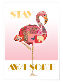 Poster  Stay Awesome - GreenNest