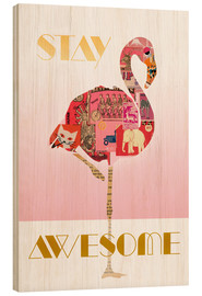 Tableau en bois  Stay Awesome - GreenNest