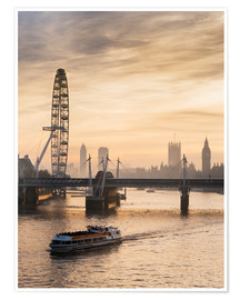 Poster  London Eye et Big Ben - Charles Bowman