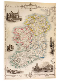 Verre acrylique  Map Of Ireland by Thomas Wright - Ken Welsh