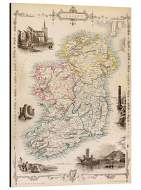 Alu-Dibond  Map Of Ireland by Thomas Wright - Ken Welsh