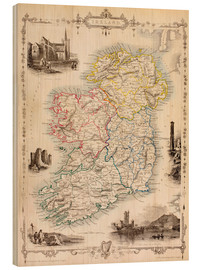 Bois  Carte de l'Irlande par Thomas Wright - Ken Welsh