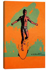 Toile  The Surfer - Hawaiian Legacy Archive