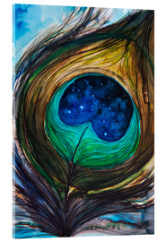 Tableau en verre acrylique  Peacock feather - Tara Thelen