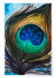 Poster  Peacock feather - Tara Thelen