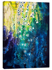 Toile  Flowers and waterfall after Klimt - Tara Thelen