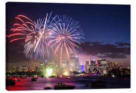 Tableau sur toile  New Year's Eve in Sydney - Matteo Colombo