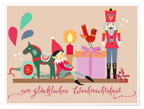 Poster A happy Christmas (German)