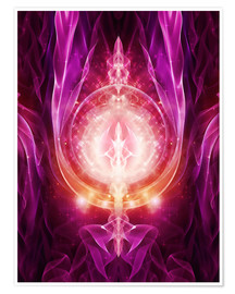 Poster  DragonPower-Energy - SELF-CONFIDENCE - Dolphins DreamDesign