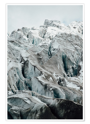 Poster Closeup view of glacier above Saas Fee, Switzerland