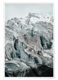 Poster  Closeup view of glacier above Saas Fee, Switzerland - Peter Wey