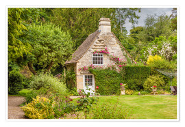 Poster Idyllic cottage in Wiltshire (England)