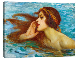 Toile  A little sea maiden - William Henry Margetson