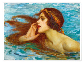 Poster  A little sea maiden - William Henry Margetson