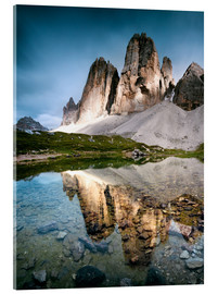 Verre acrylique  Majestic Three Peaks (Tre Cime di Lavaredo) mountains in the Dolomites, Italy - Matteo Colombo