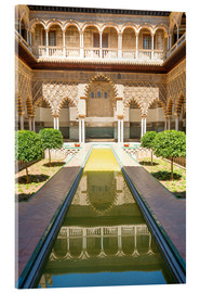 Verre acrylique  Courtyard of the Maidens in the royal Alcazar of Seville, Spain - Matteo Colombo