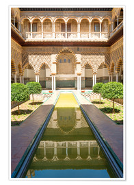 Poster  Courtyard of the Maidens in the royal Alcazar of Seville, Spain - Matteo Colombo